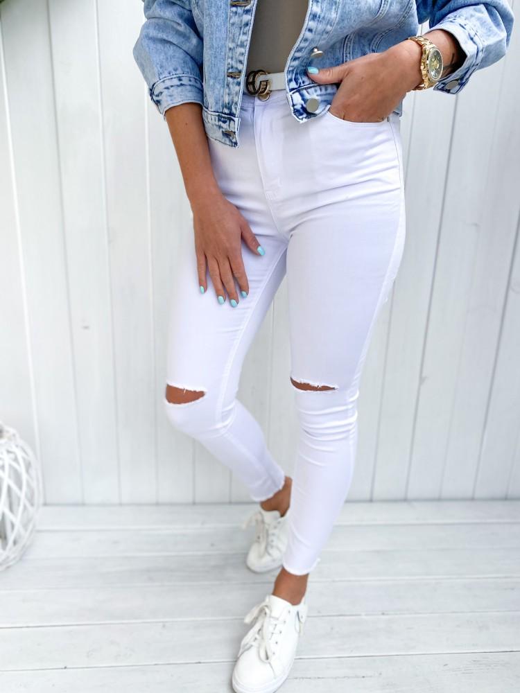Spodnie jeansowe DOOSE, white