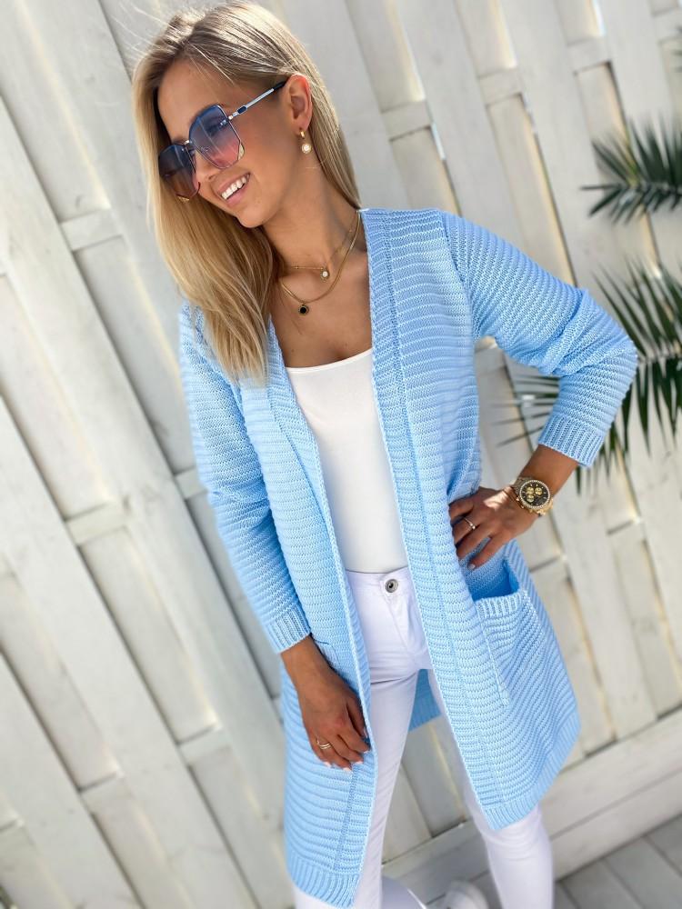 Kardigan Monaco, błękit