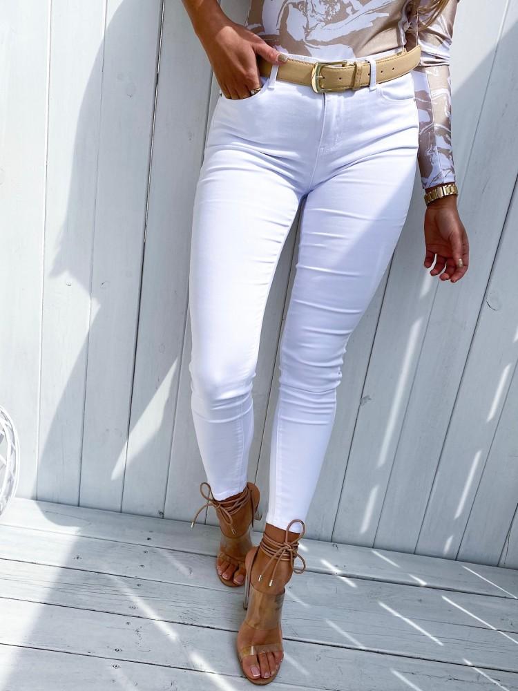 Spodnie jeansowe ITALY, white
